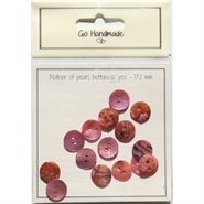 "Knapper ""Mother of pearl buttons"" Soft pink 12 mm - 15 stk - Go Handmade"