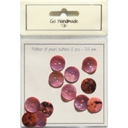 "Knapper ""Mother of pearl buttons"" Soft pink 15 mm - 12 stk - Go Handmade"