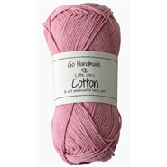 Garn Lys rosa Little One´s Cotton - 50 Gram - Go Handmade