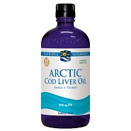 Torskelevertran med appelsin Cod liver oil - 474 ml - Nordic Naturals