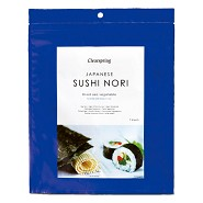 Nori sushi plader (perforeret) - ristet - 17 gr - Clearspring
