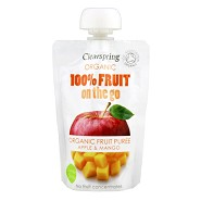 Æble, Mango fruit on the go Økologisk - 100 gram - Clearspring