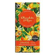 Chokolade Orange 65% Økologisk  - 80 gram - Chocolate and Love