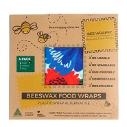 Beeswax Food Wraps 4 Pack - 1 pakke - Bee Wrappy