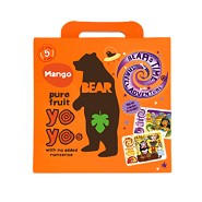 Yoyo multipak mango Bear pure fruit 5x20 gr - 100 gram - Bear