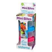 Mini bites to go 130 ml Grøn, blå, pink - 1 styk - Sistema