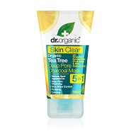 Organic tea tree deep pore charcoal mask - 100 ml - Dr. Organic