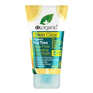 Organic tea tree face wash cleansing deep pore - 125 ml - Dr. Organic