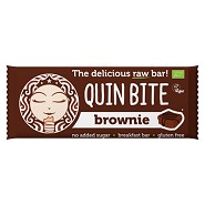 Brownie bar Økologisk - 30 gram - Quin Bite
