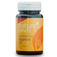 Vitamin D3 vegan fra lakseekstrakt - 60 tabletter - Natures Own