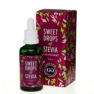 Stevia Dråber hindbær - 50 ml - Sweet Drops of Stevia
