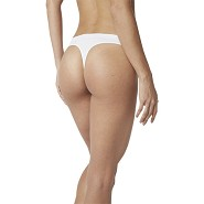 Trusser G-String hvid - Large - Organic Bamboo Eco Wear