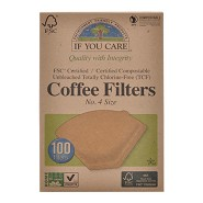 Coffee filters no. 4 ubleget  - 100 stk - If You Care