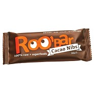 Bar kakao nibs 100% Raw - 30 gram - Roobar