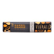 Vivani mandel orange bar Økologisk - 35 gram