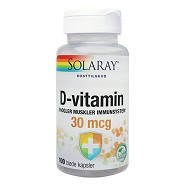 D3-vitamin 30 mcg - 100 kap - Solaray
