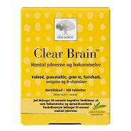 Clear Brain - 180 tabletter - New Nordic